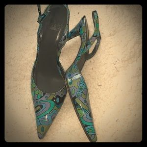 Stuart Weitzman Printed Slingback Heels